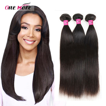 Mink Peruvian Straight Virgin Human Hair 3 Bundles - ExcellentVirginHair