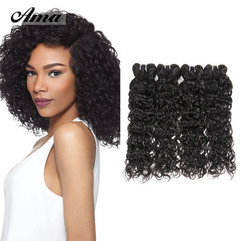 Ama Virgin Indian Human Water Wave Hair 4 Bundles - ExcellentVirginHair