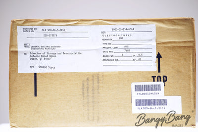 Factory Sealed Box 200 pcs General Electric 5725W  / 6AS6W / CV4011 / GL5725 / CK5725 Power Tubes - BangyBang Tubes