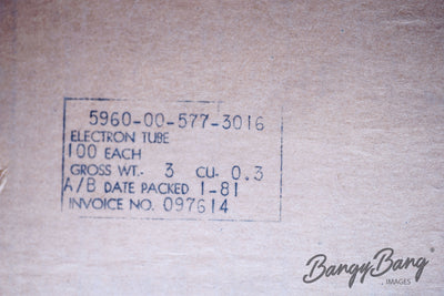Factory Sealed Box 100 pcs Sylvania 5643 TD-17 CK5643 CV5079 Subminiature Tube - BangyBang Tubes