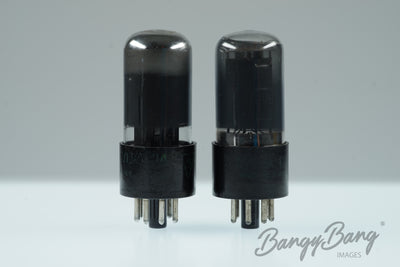 Matched Pair 2 Sylvania 6V6GT / 6V6 Grey Glass Premium Power tube - BangyBang Tubes