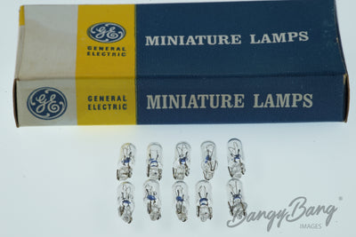100 General Electric 12V Miniature Lamps MCG410-U Model 74  - BangyBang Tubes