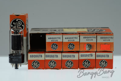 10 Vintage General Electric 6BQ6 GTB / 6CU6 Premium Audio Tube Valve in Box - BangyBang Tubes