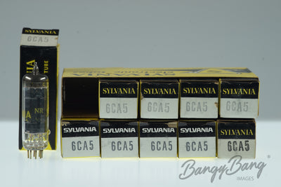 10 Vintage Sylvania 6CA5 Electric Premium Audio Tube in Box - BangyBang Tubes