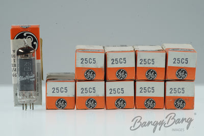 10 Vintage General Electric 25C5 Premium Tube in Box - BangyBang Tubes