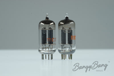Platinum Matched Pair RCA 5963 / 12AU7 / ECC82 / 5814 RED LOGO- BangyBang Tubes