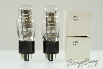 2 Vintage Sylvania 0A3 Premium Voltage Regulator Tube Valve- BangyBang Tubes