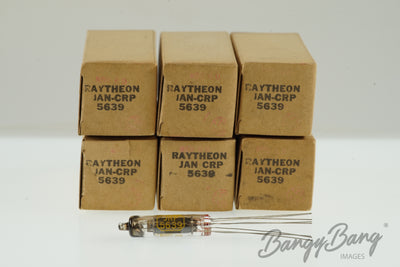 6 Vintage Raytheon JAN 5639 Subminiature Audio Tube Valve- BangyBang Tubes