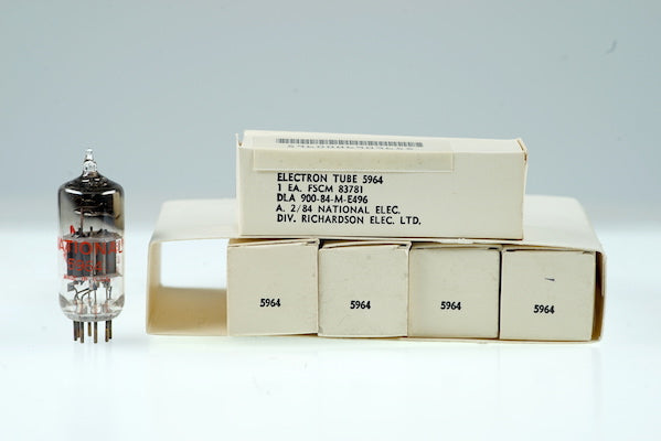 5 Vintage National 5964 6J6 ECC91 Frequency Divider Tube - BangyBang Tubes