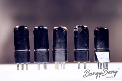 Matched Quad  plus one Vintage Black Glass 313CA Western Electric Premium Power Tubes - BangyBang Tubes