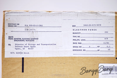 Lot 50 Vintage General Electric JAN 5726 6AL5W 6097 CV4007 E91AA GL5726 Premium Audio Tube - BangyBang Tubes