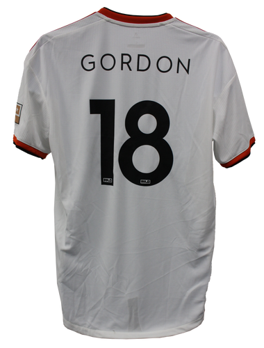Authentic Game Worn Away Jersey - Gordon