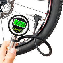 CycloSpirit Digital Bicycle Tire Inflator Gauge with Auto-Select Valve Type - Presta and Schrader Air Compressor Tool…