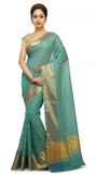 BENA LE Banarasi Turquoise Saree for Women - Cotton Saree