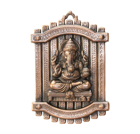 PIXEL Hand Crafted Wall Hanging of Lord Ganesh - 10 Inch Height - Wall Decor and Home Decor