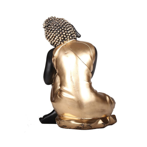 PIXEL Handcrafted Lord Buddha Showpiece Figurine - 9 Inch - Resting Buddha for Table Decor, Home Decor, Room Decor and Gifts