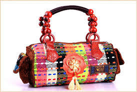 JD Crafts Jute Fashion Bag - 100% Jute and Cotton - Designer Handbag, light weight, Beach