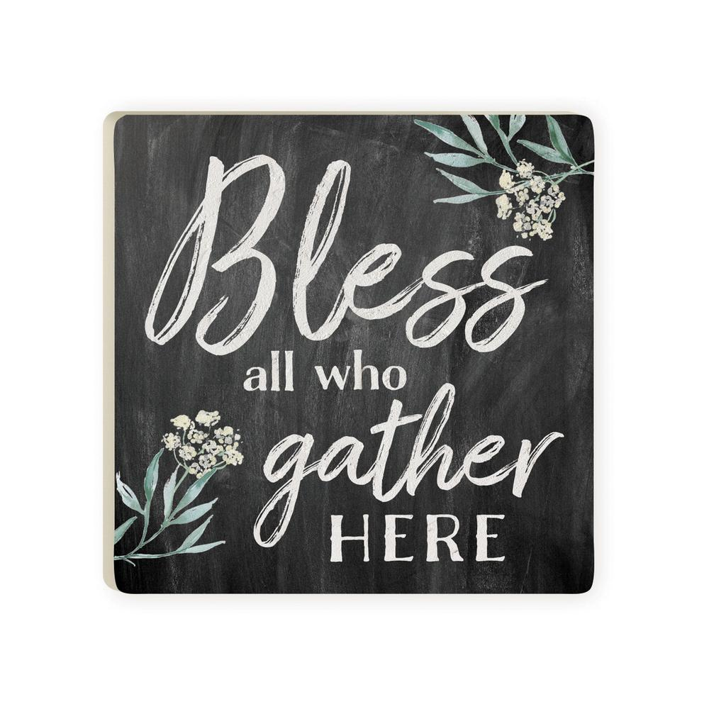 Bless All Who Gather Here Coaster - HYGGE