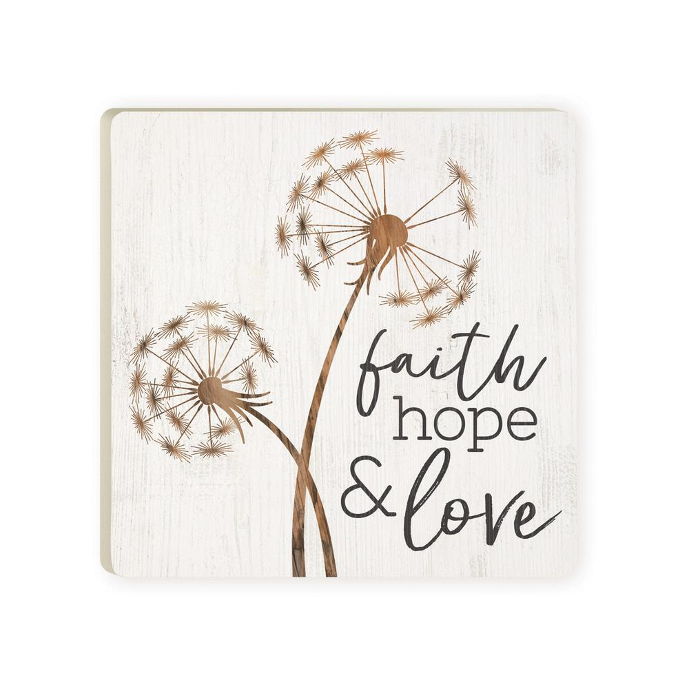 Faith Hope & Love Coaster - HYGGE