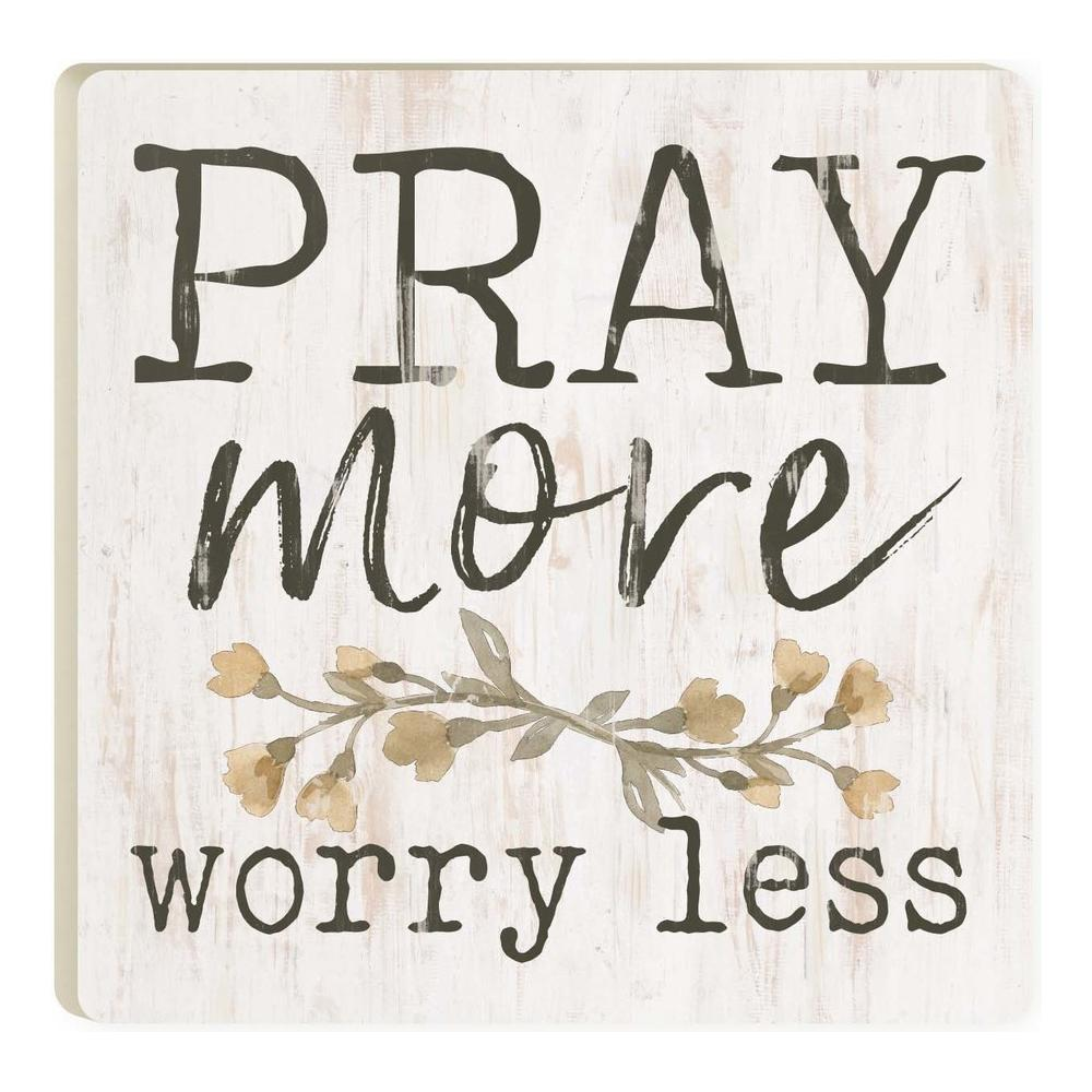 Pray More Worry Less Coaster - HYGGE
