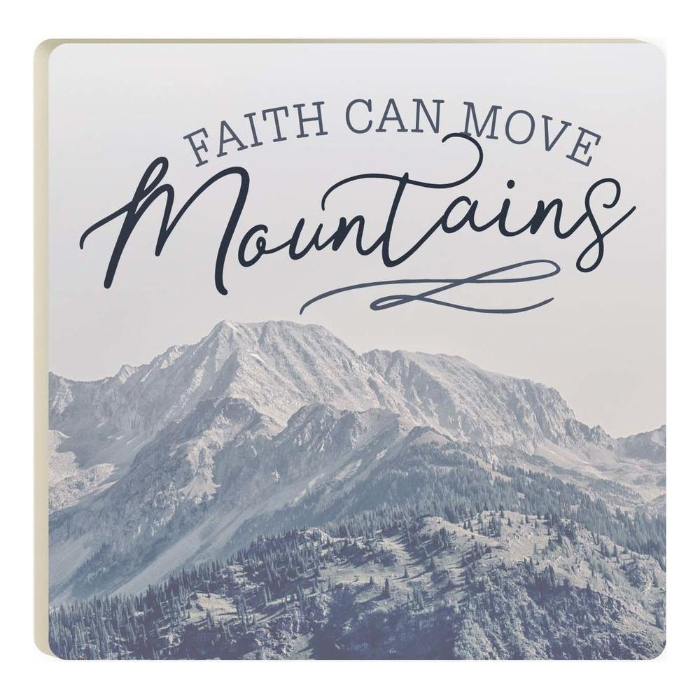 Faith Can Move Mountains Coaster - HYGGE