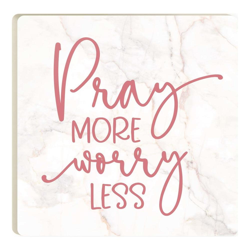 Pray More Worry Less (v2) Coaster - HYGGE