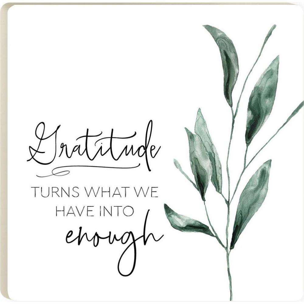 Gratitude Turns What We Have Coaster
