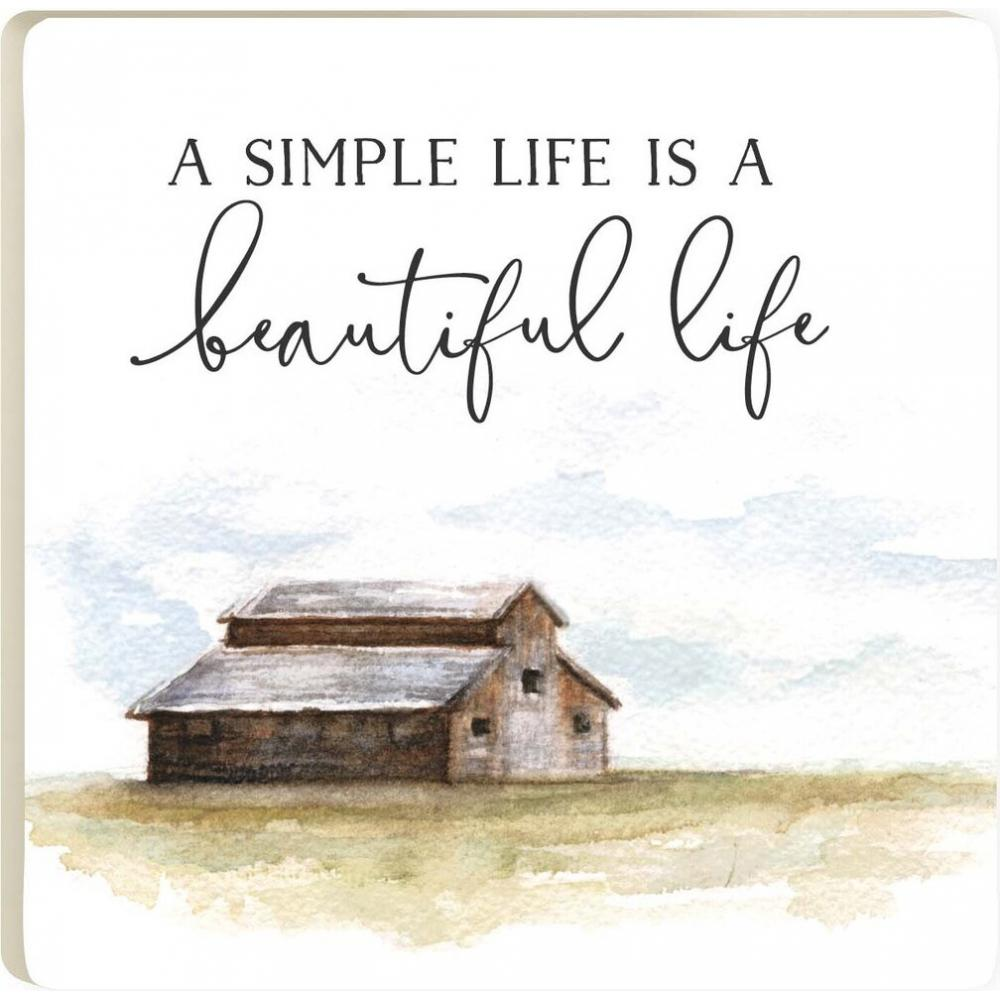 A Simple Life is A Beautiful Life Coaster