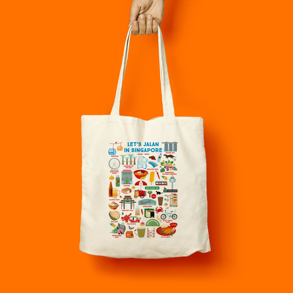 Tote Bag - Let's Jalan In Singapore - HYGGE