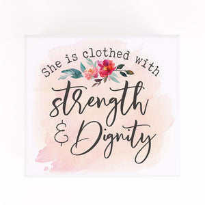 She Is Clothed With Strength and Dignity Jewelry Box