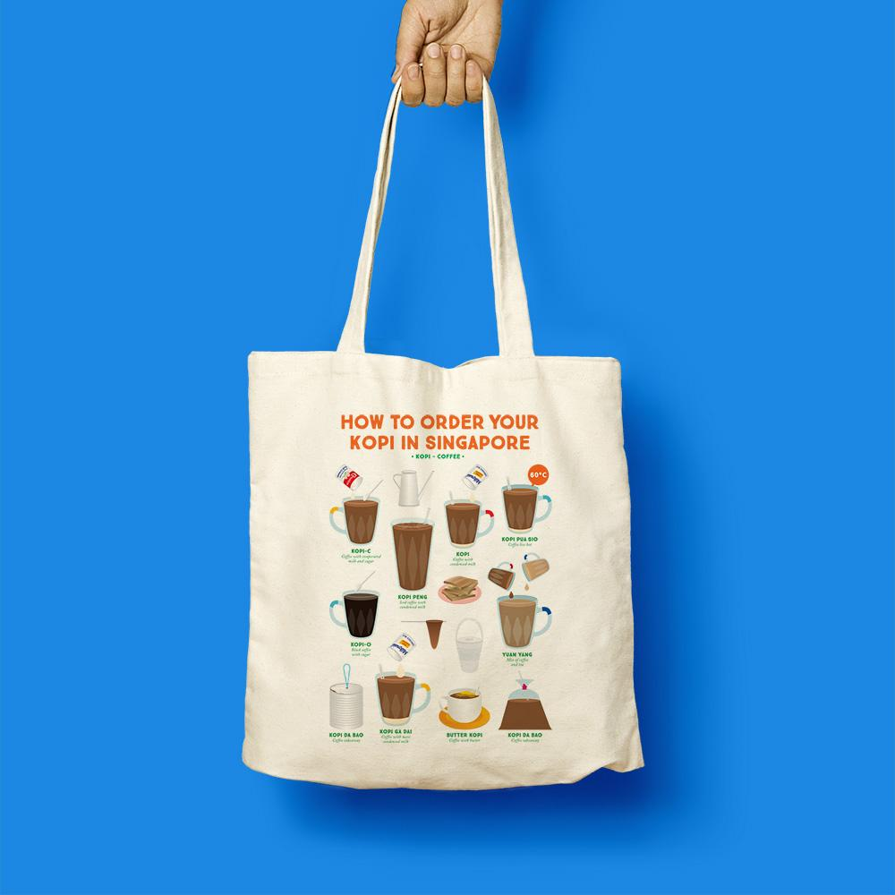 Tote Bag - How To Order Your Kopi In Singapore - HYGGE