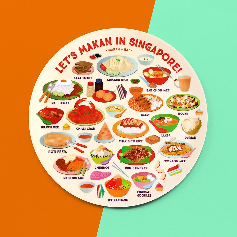 10 Inch Plate - Let's Makan - HYGGE