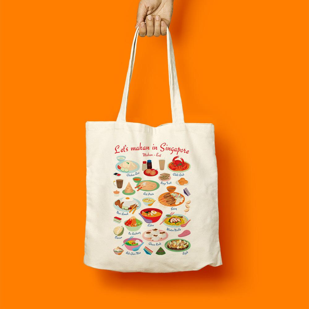 Tote Bag - Let's Makan In Singapore - HYGGE