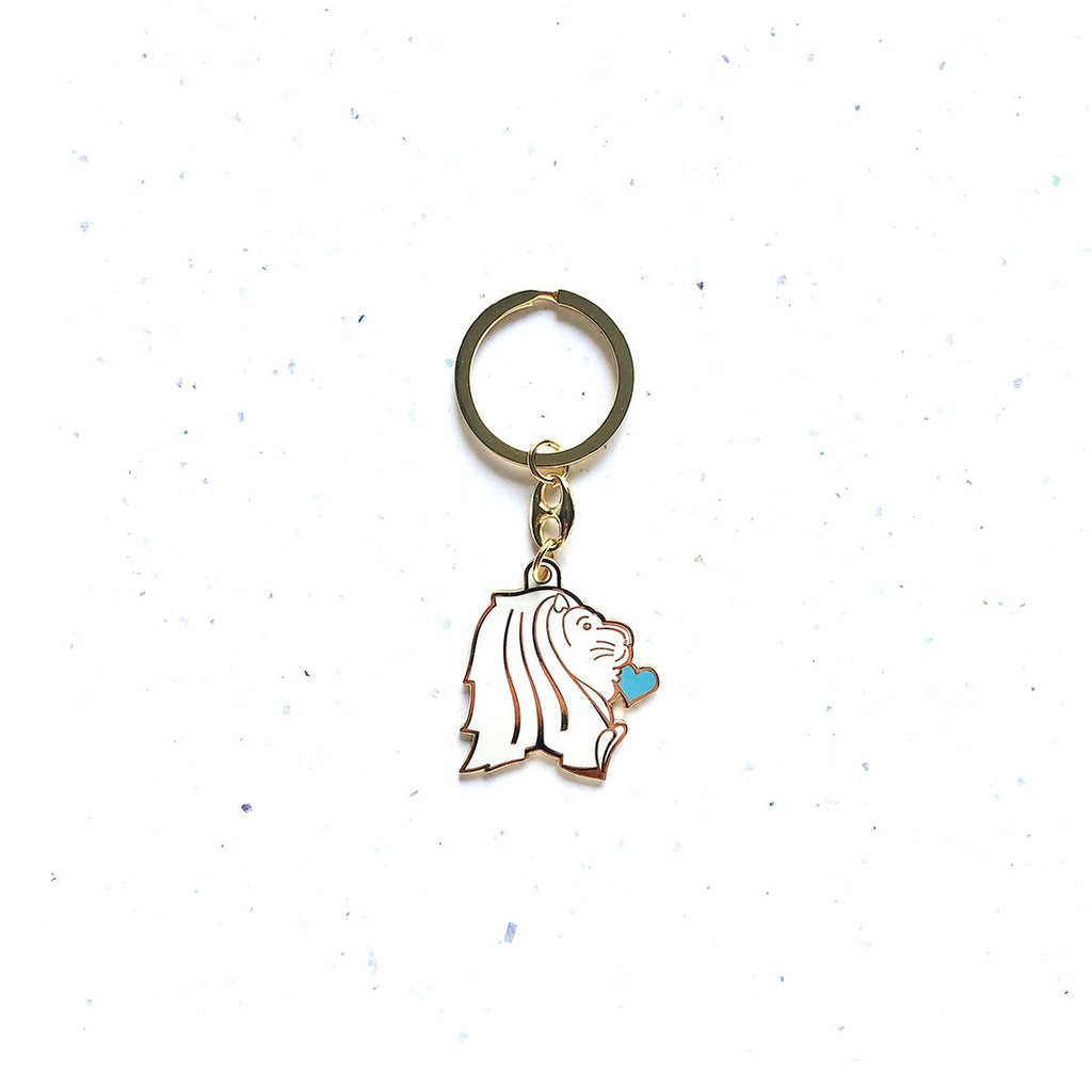 Key Chain - Merlion Flying Kiss - HYGGE