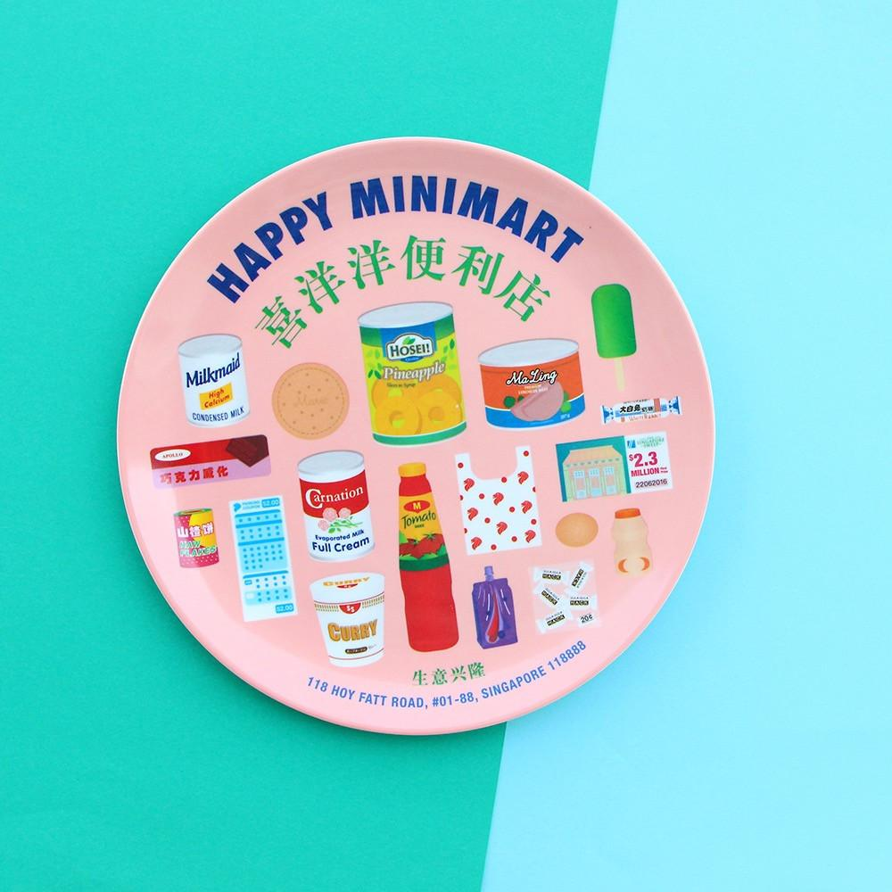 8 Inch Plate - Happy Minimart - HYGGE