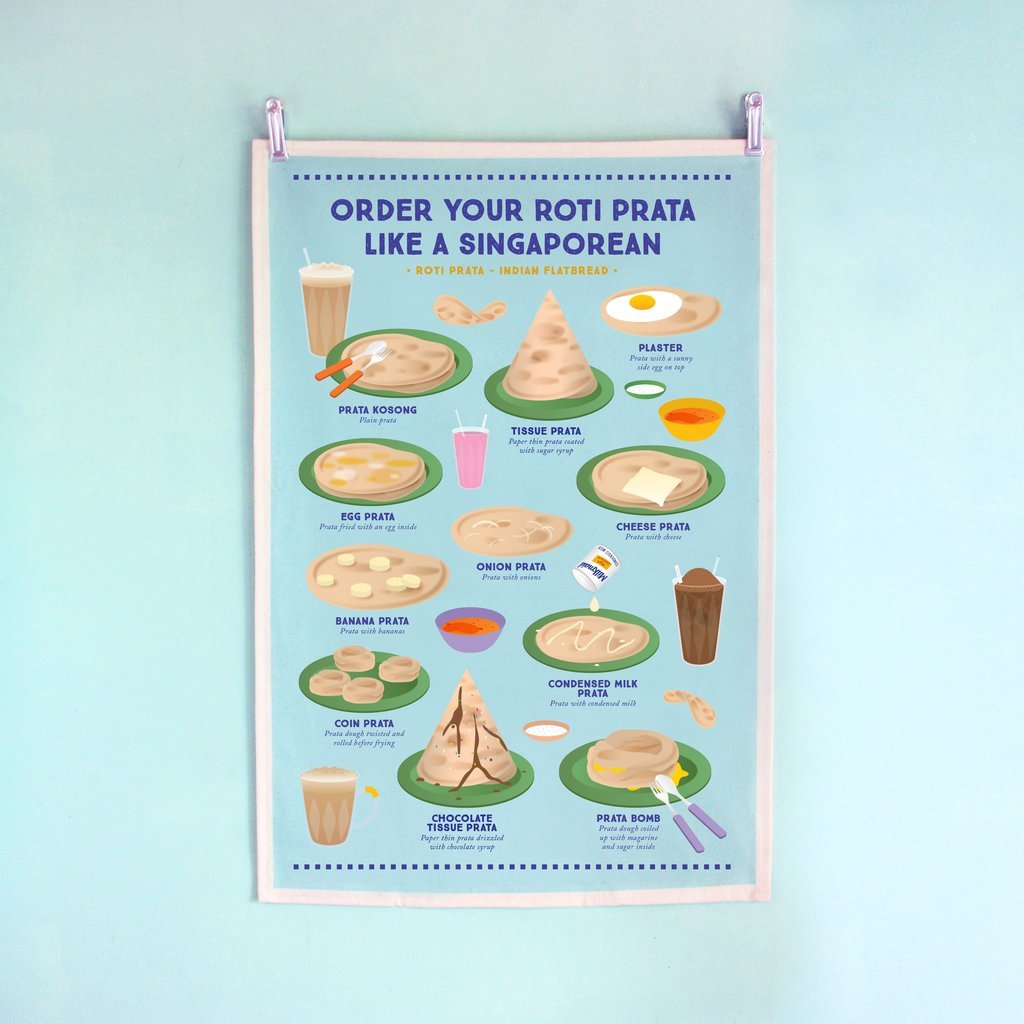 Tea Towel - Order Your Roti Prata Like A Singaporean - HYGGE