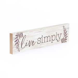 Live Simply Little Sign - HYGGE