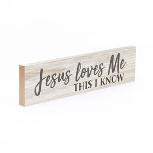 Jesus Loves Me This I Know Little Sign - HYGGE