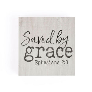 Saved By Grace Word Block - HYGGE