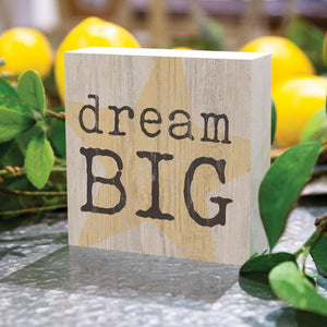 Dream Big Word Block - HYGGE