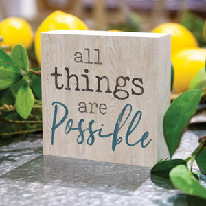 All Things Are Possible Word Block - HYGGE