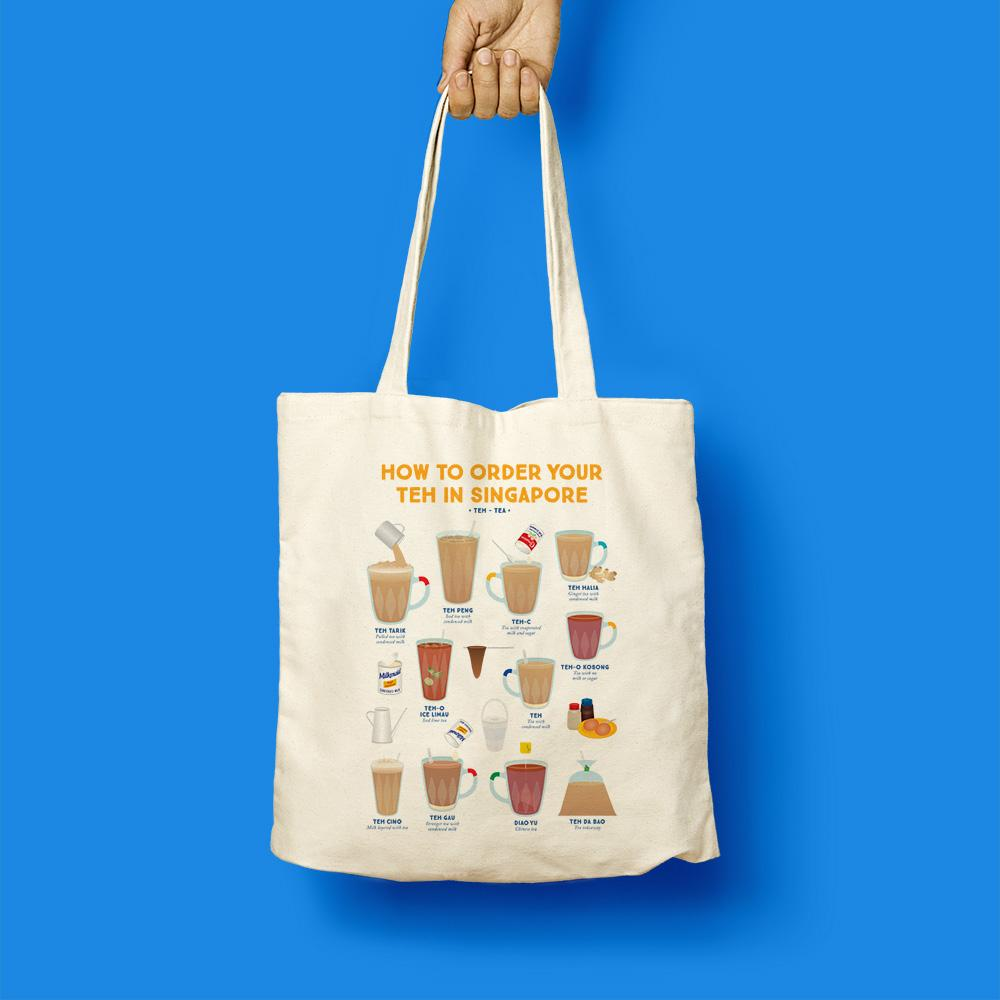 Tote Bag - How To Order Your Teh In Singapore - HYGGE