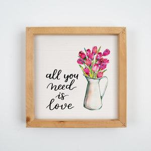 Framed Art - All You Need Is Love - HYGGE