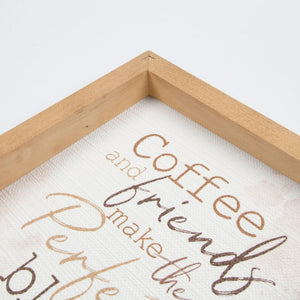 Framed Art - Coffee And Friends Make The Perfect Blend - HYGGE
