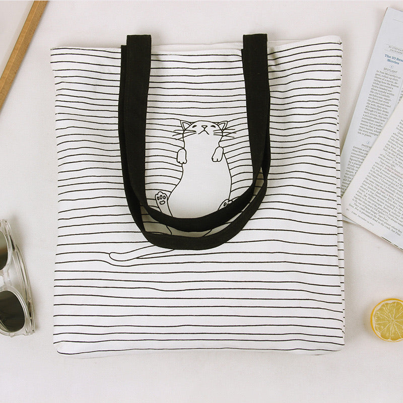 Cute Cat Tote Bag - HYGGE
