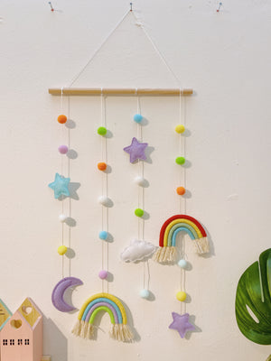 Hanging Rainbow with Pom Pom
