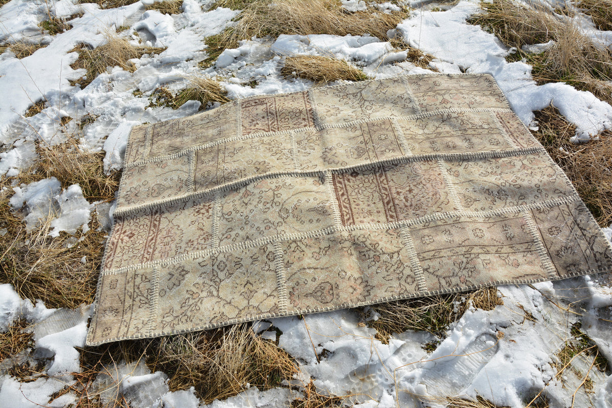 Turkish Patchwork Rugs, Handmade Rug, Turkish Kilim, Runner Rug, Turkish Kilim Rug, Turkish Kilim Pillow,  5.9x3.9 Ft AG162