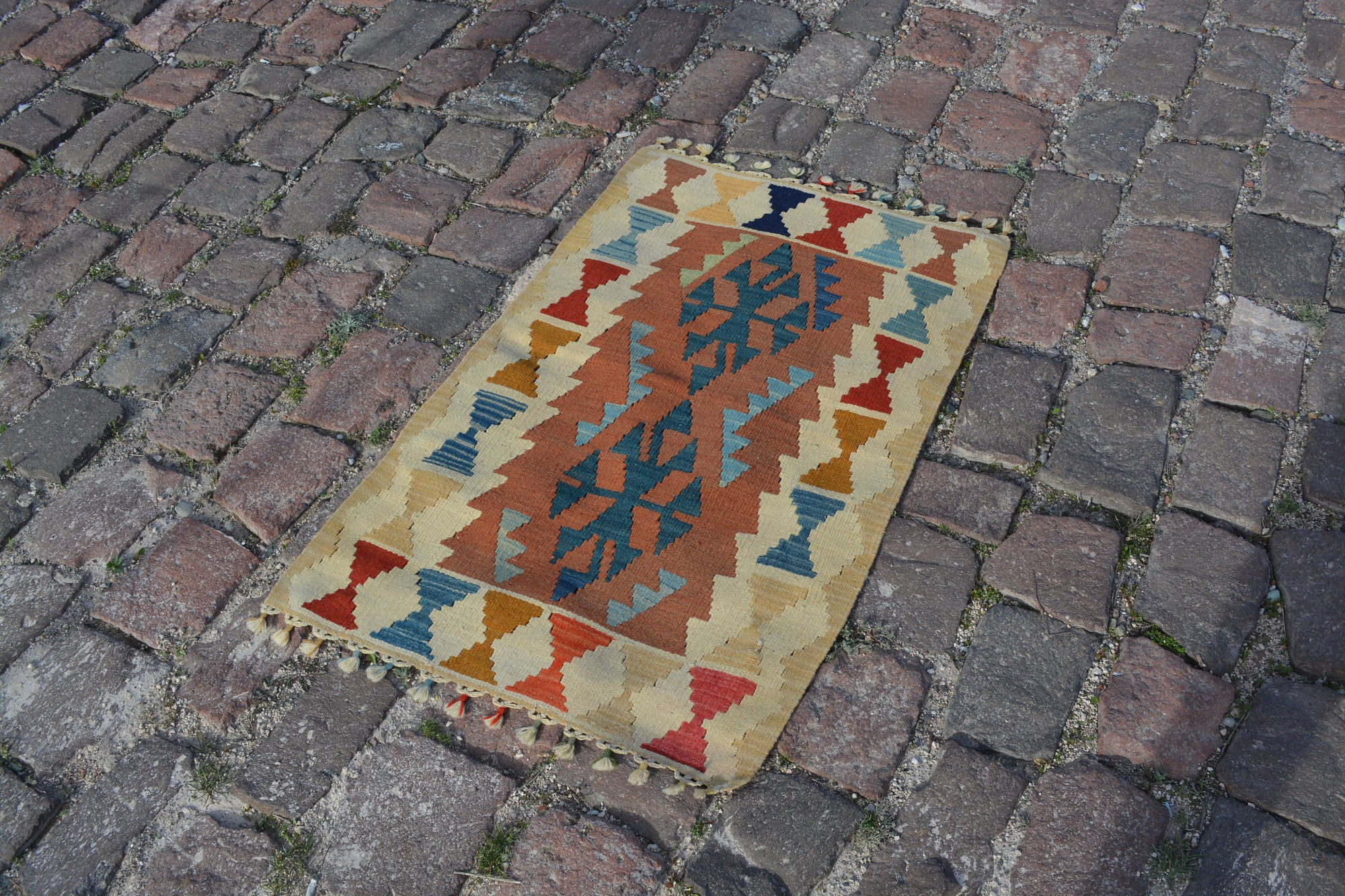 Small Rug, Turkish Rugs, Oriental rug, Entrance rug,  Area rug, Vintage Rugs, Turkish carpet, Doormat rug, Bath Mat rug, 2.3x3.6  Ft AG582