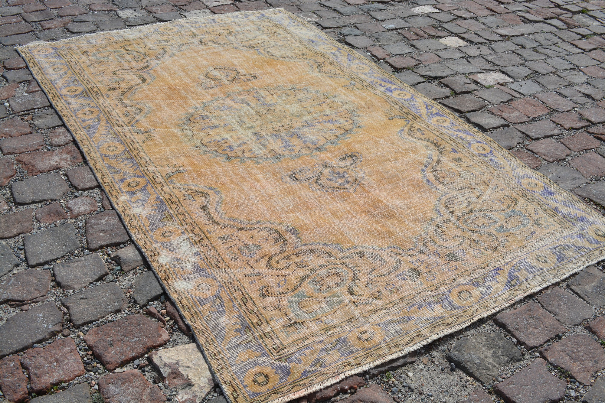 Orange rugs, Vintage turkish rugs, Area rug, vintage rug, oushak rug, orange rug, organic  rug, Handmade rug, Oriental rug, 5.9x9.1 Ft AG607