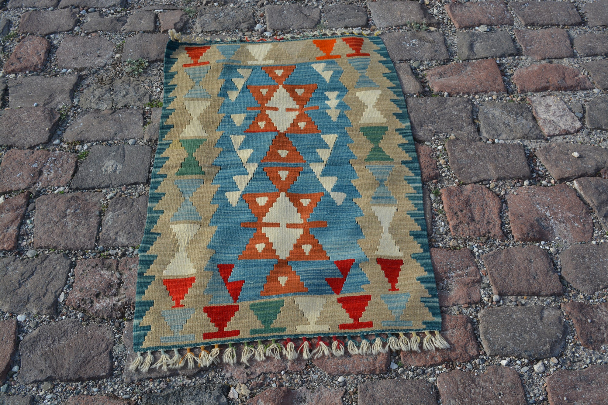 Bathroom Turkish Rugs, Oriental rug, Entrance rug, Oushak Rug, Vintage Rugs, Turkish carpet, Doormat rug, Over dyed rug, 2.4x3.6  Ft AG579